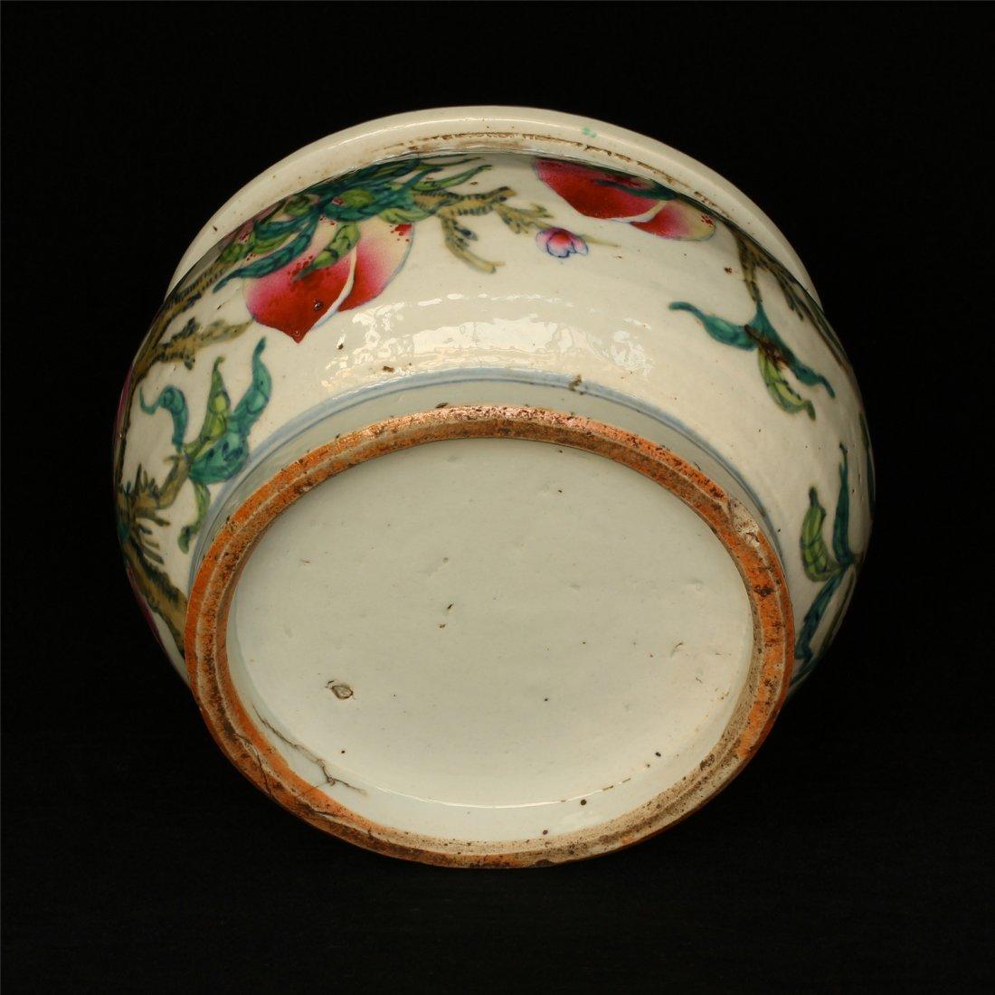 Famille rose porcelain jar. - 2