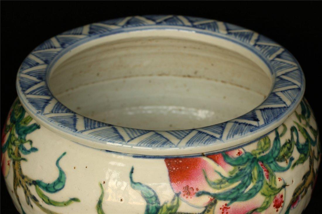 Famille rose porcelain jar. - 5