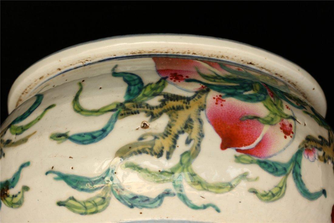 Famille rose porcelain jar. - 6
