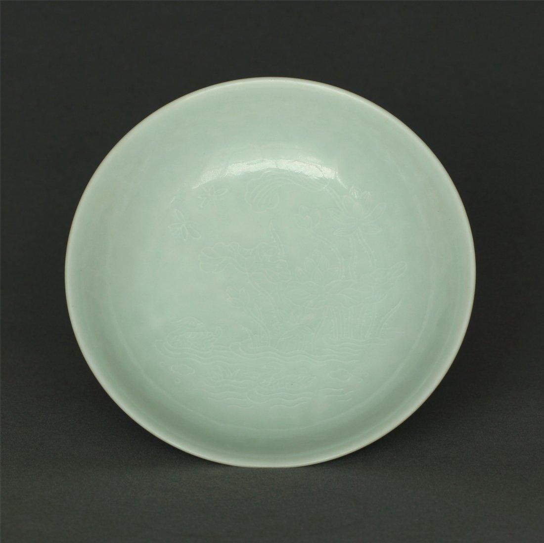 Lemon yellow glaze plate of Qing Dynasty YongZheng - 3