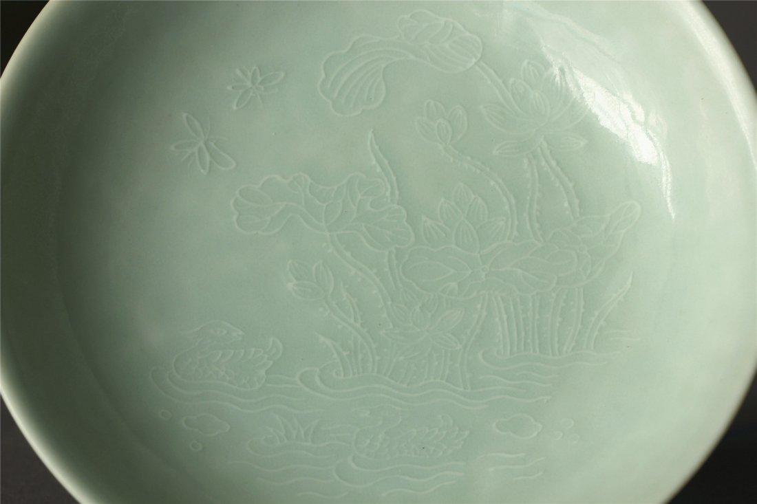 Lemon yellow glaze plate of Qing Dynasty YongZheng - 4