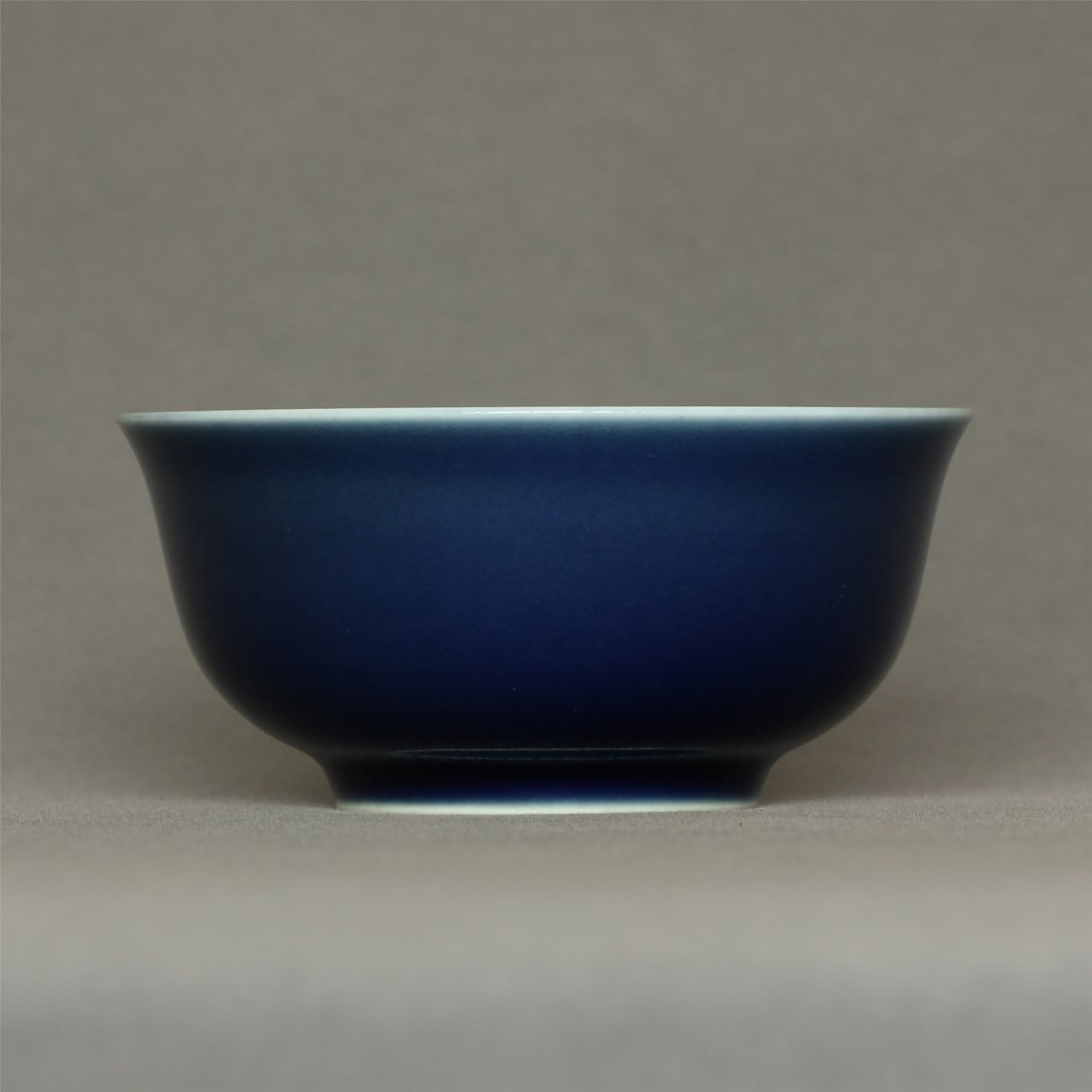 Blue glaze porcelain bowl of Qing Dynasty QiangLong