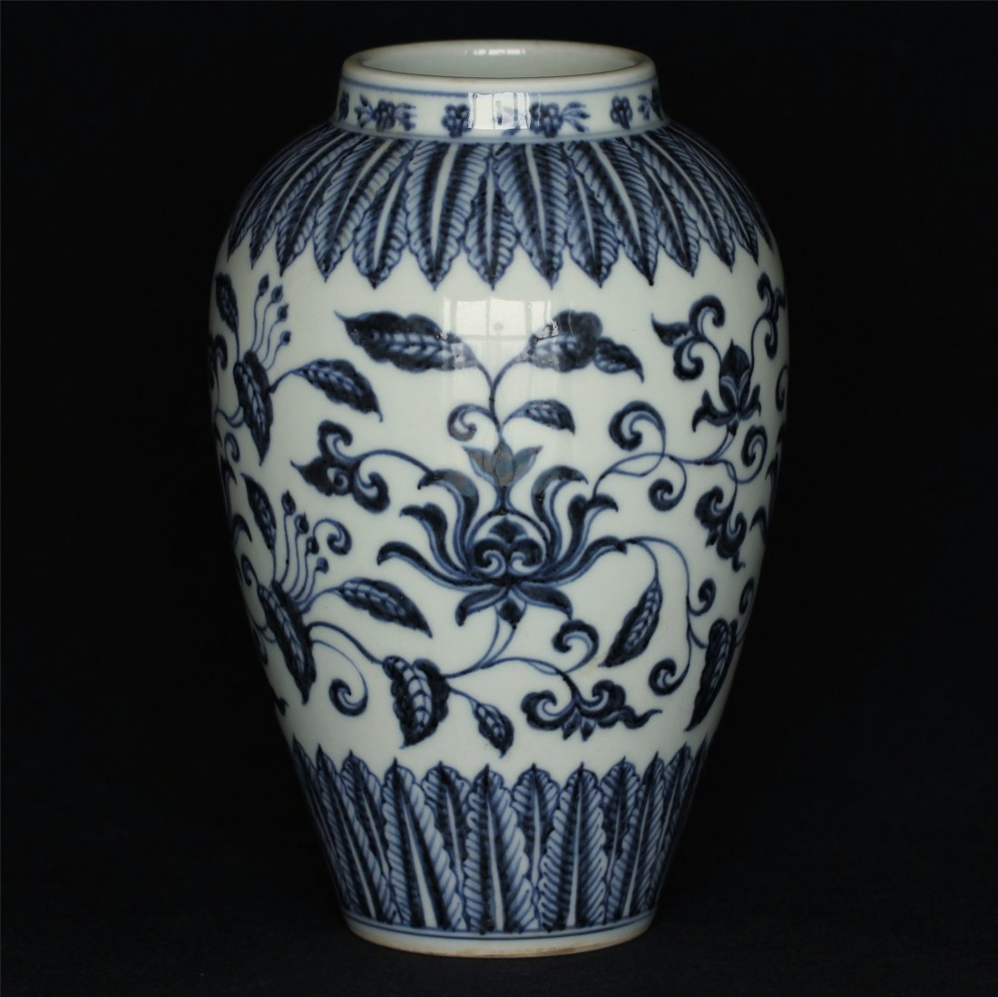 Blue and white porcelain jar of Ming Dynasty XuanDe