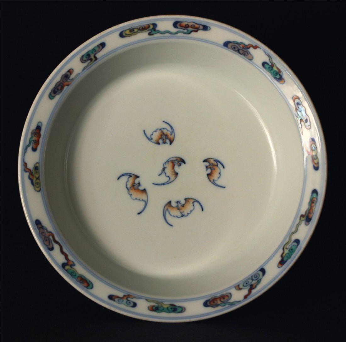 Doucai porcelain plate of Qing Dynasty YongZheng mark.