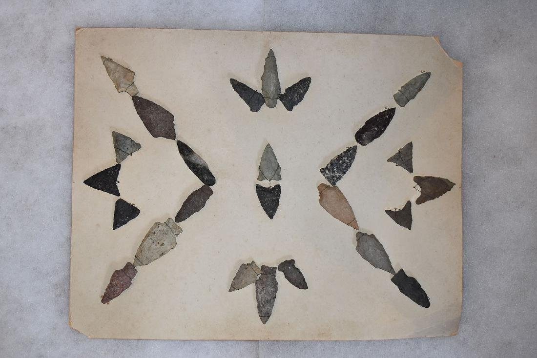 "11x14"" Bank Window lot of New England Arrowheads"