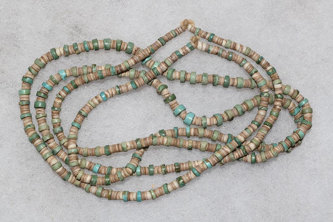 Turquoise and Shell Necklace, Arizona, 42 inches long