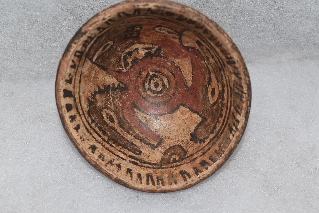 "Pre-Columbian Pottery Bowl, 3.3/8"" diameter, good paint"