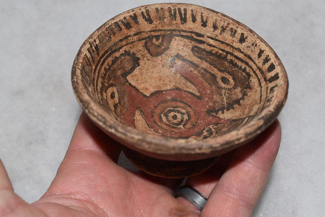 "Pre-Columbian Pottery Bowl, 3.3/8"" diameter, good paint - 3"