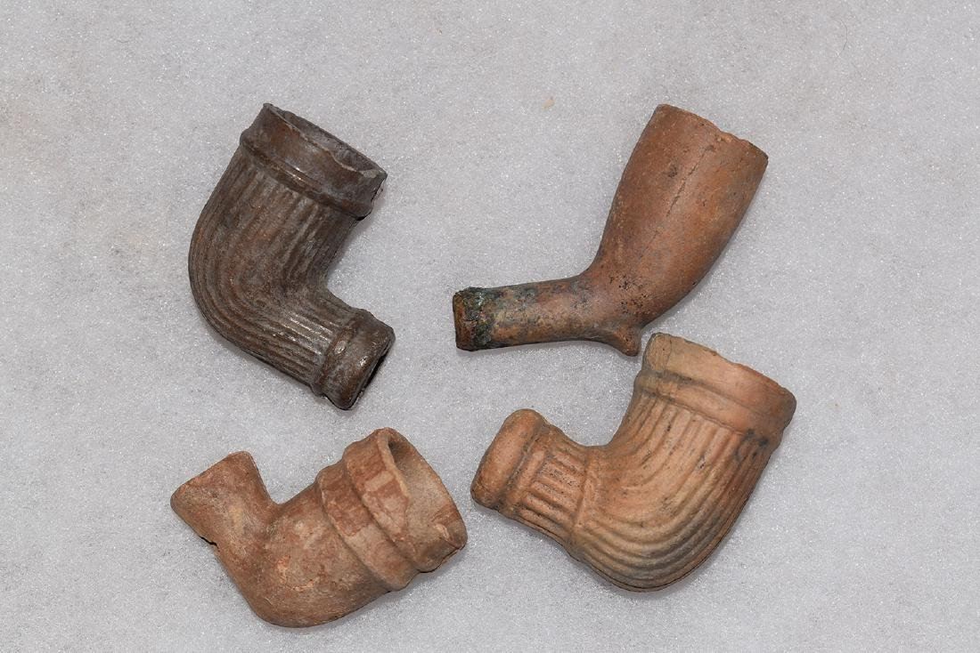 Lot of 4 early trade pipes, 1800's