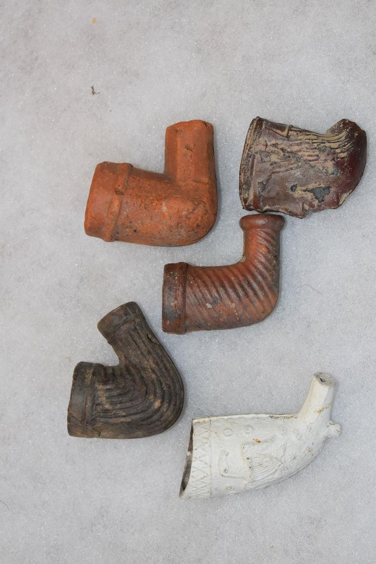 Lot of 5 early trade pipes, 1800's