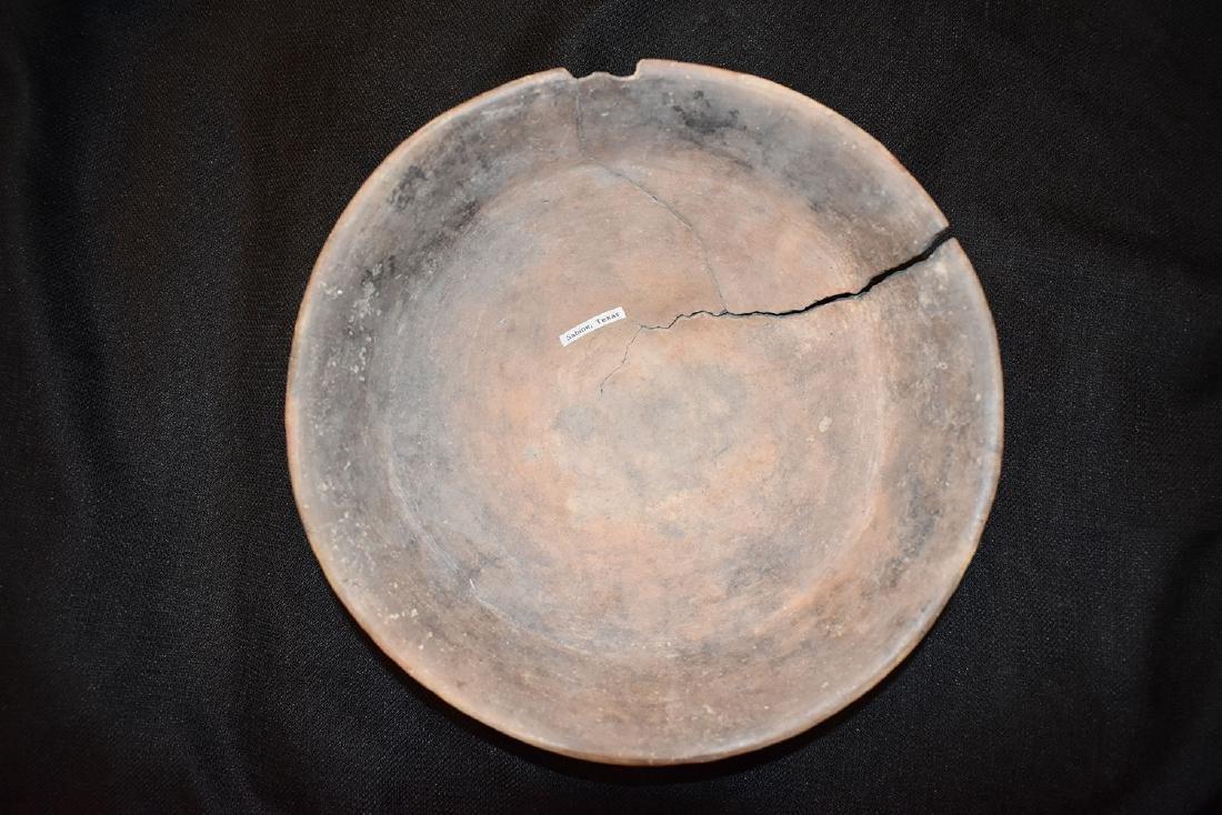 "Caddo Bowl, 10.1/2 dia 4"" tall, Sabine Texas, Cracked - 3"