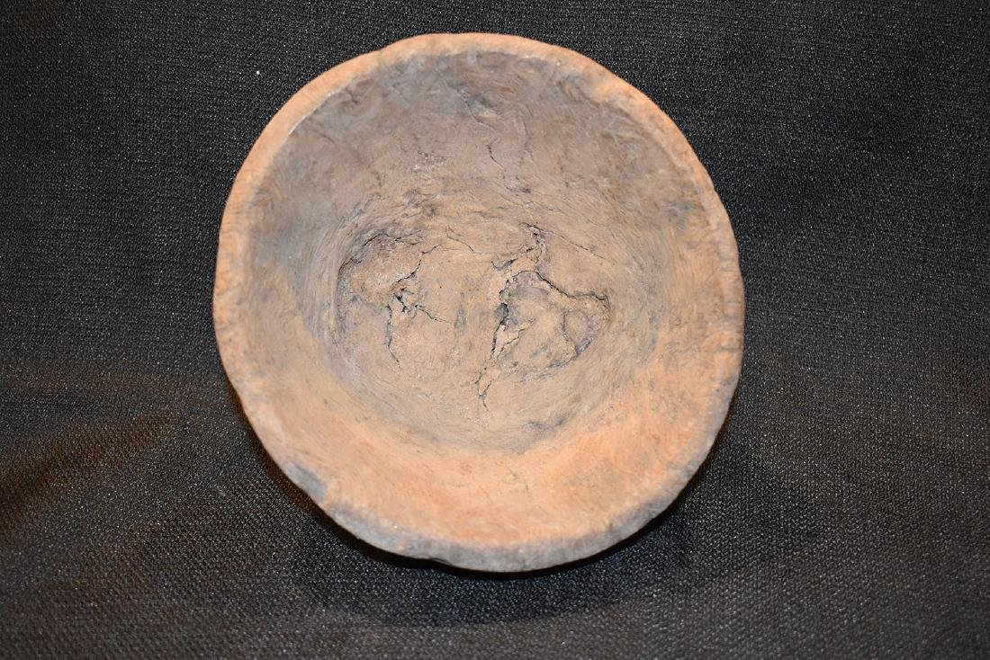 "Burrell Wooden Bowl, 1870-1900, 7"" Dia, 4"" tall - 2"