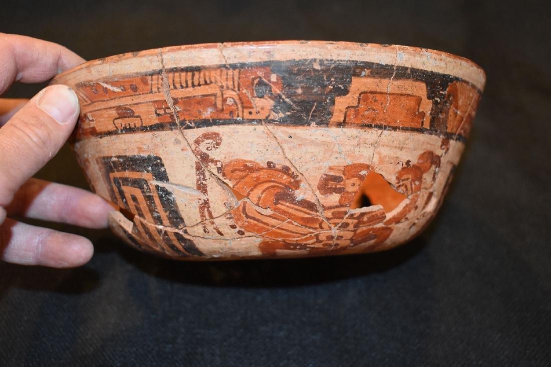"Pre-Columbian Designed Bowl, 8"" dia, 3.1/8"" tall,"