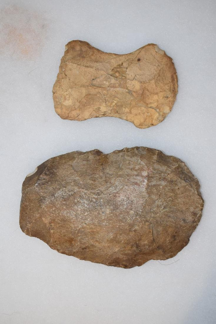 "Flint Spade, 6.3/4"", and Flint axe, 4.1/2"", Missouri"