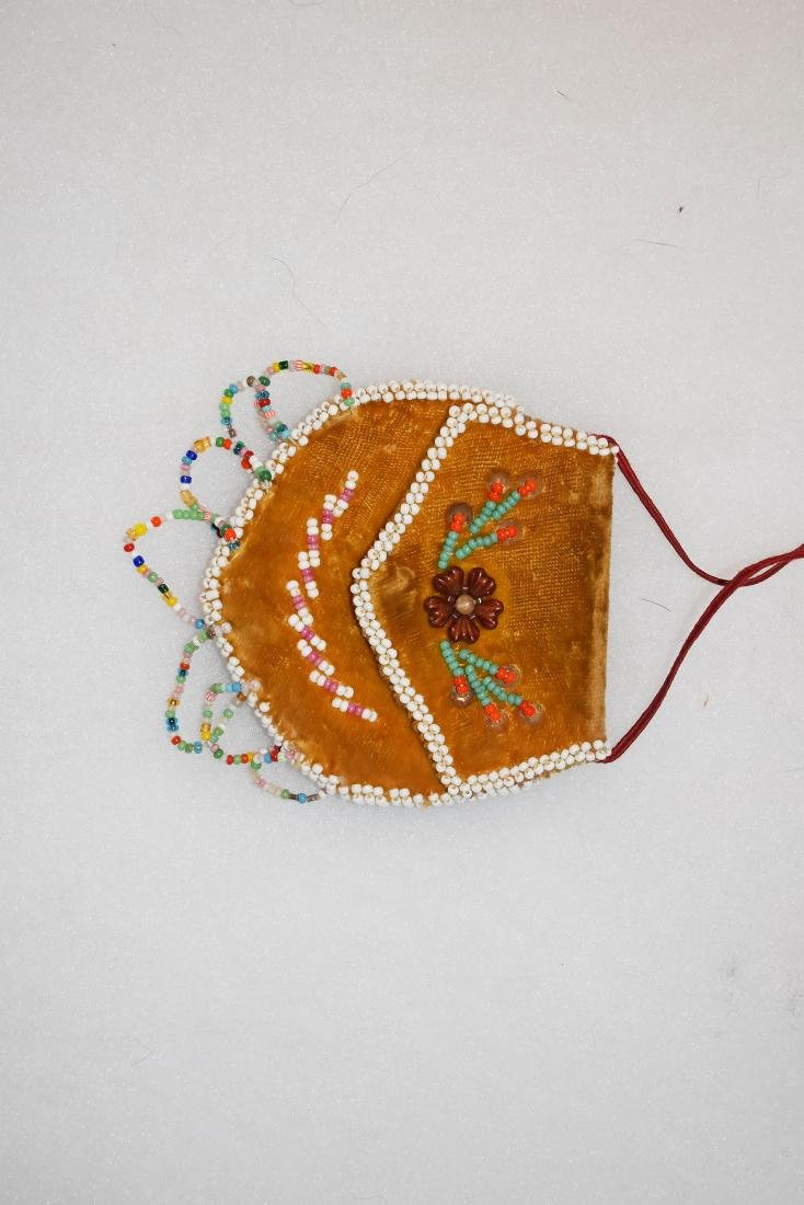 "Beaded Possibles Bag, East Coast, 3.1/4"" tall 20th"