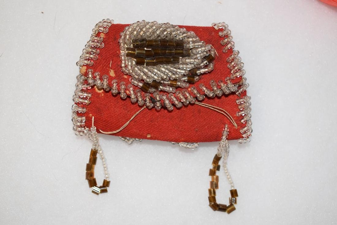 "Beaded Possibles Bag, East Coast, 4"" long 20th Century"