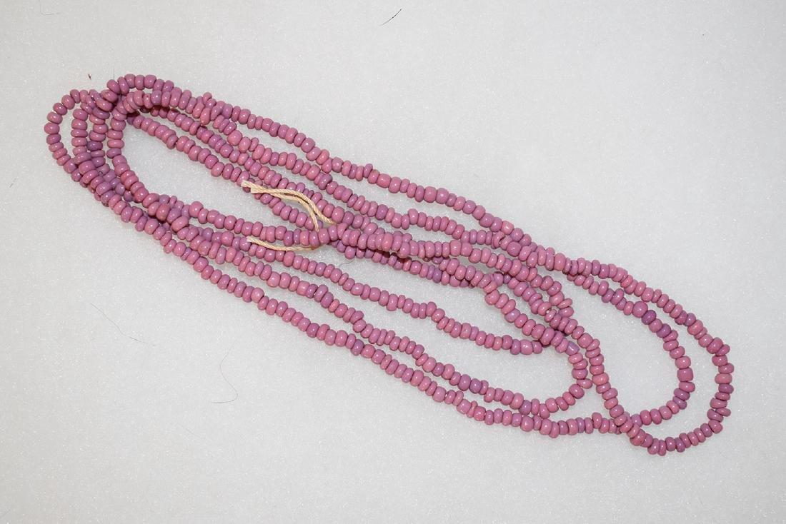 "Light Purple Trade Bead Necklace, 57"", East Coast"
