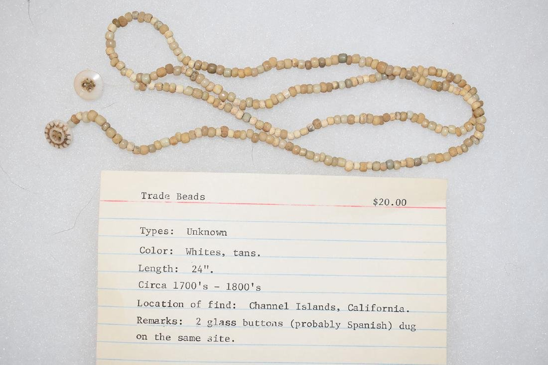 "Trade Bead Necklace, 22"", California"