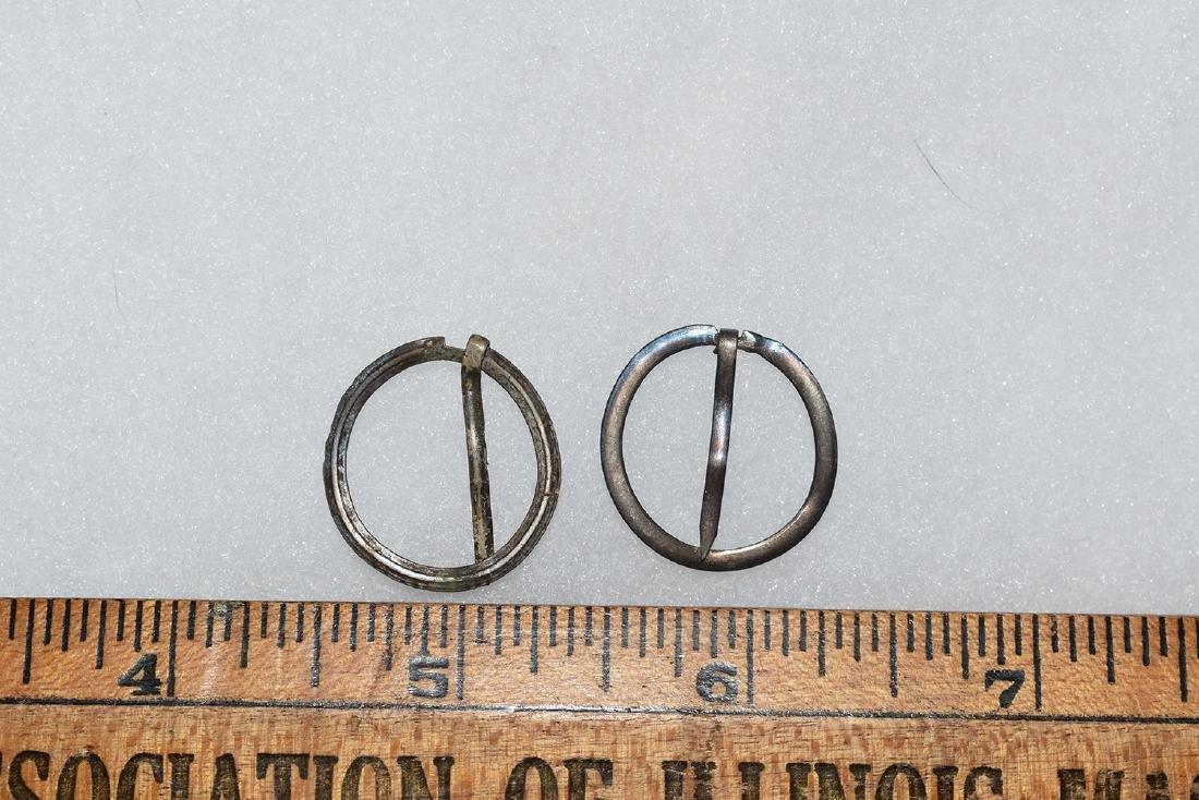 2 Silver Trade Broaches, New England