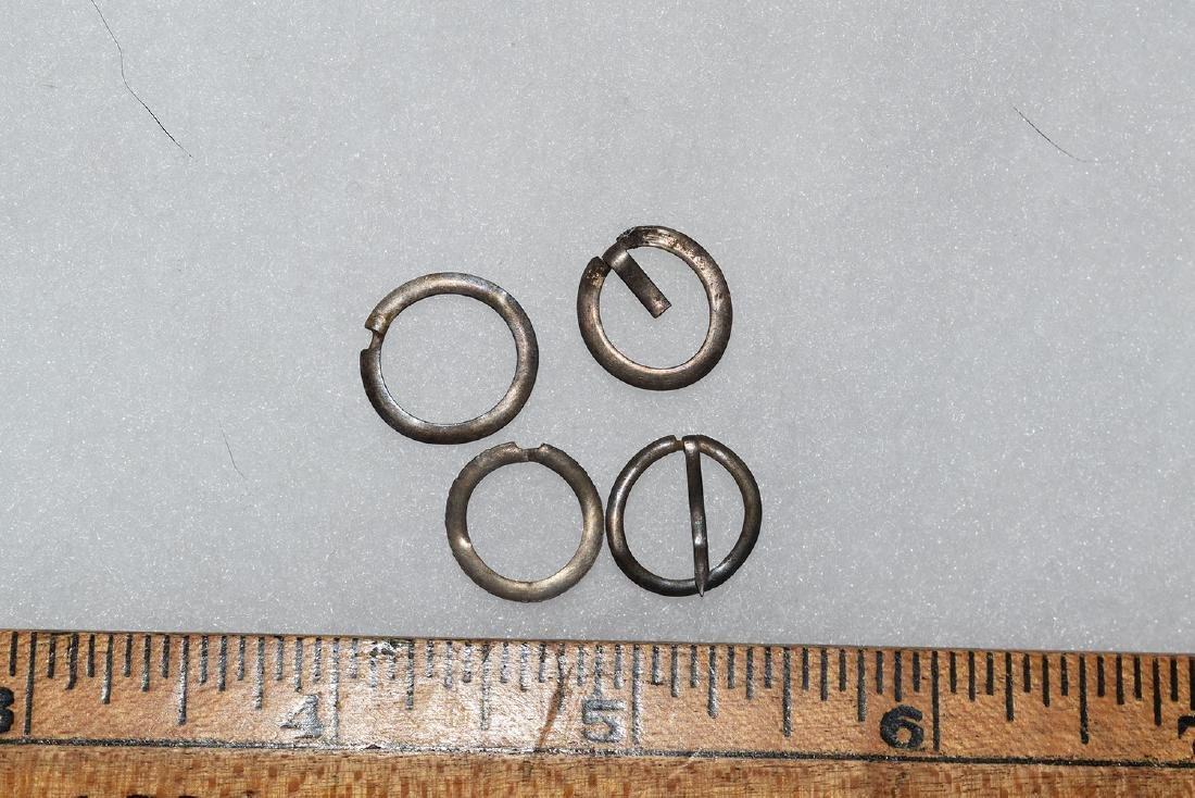 4 Silver Trade Broaches, New England