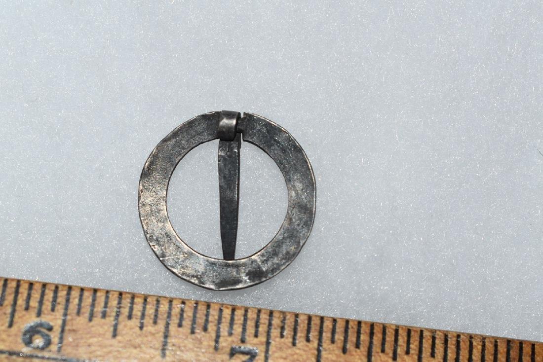 Rare Silver Circle Broach, Designed, Thick, New England - 2