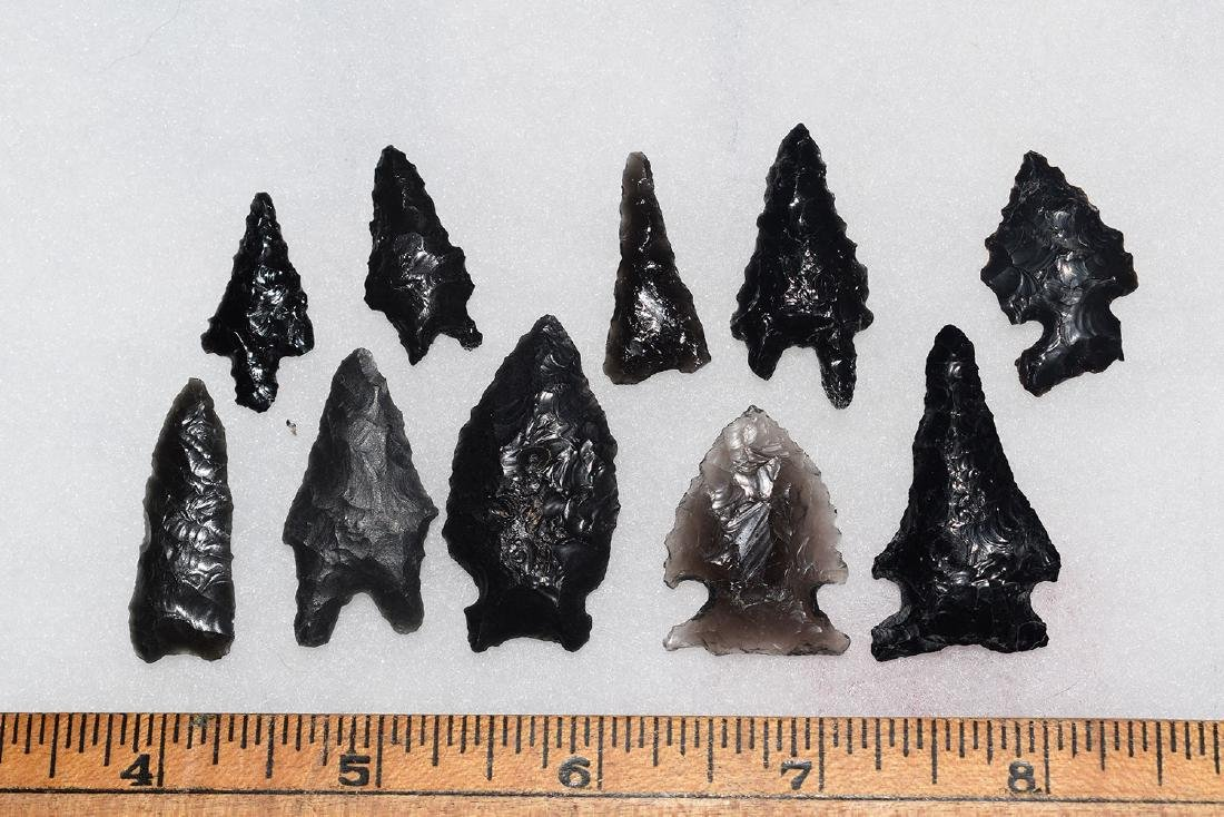 10 California Gem Obsidian Points, Ex Dr Green
