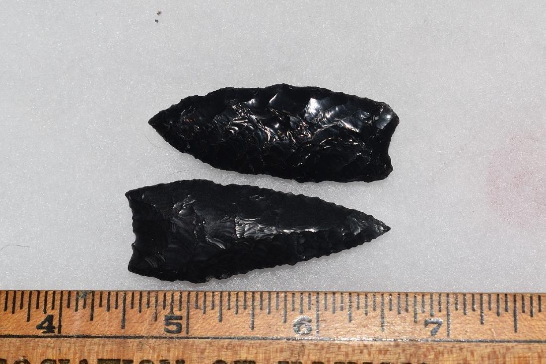2 Paleo California Gem Obsidian Points, Ex Dr Green