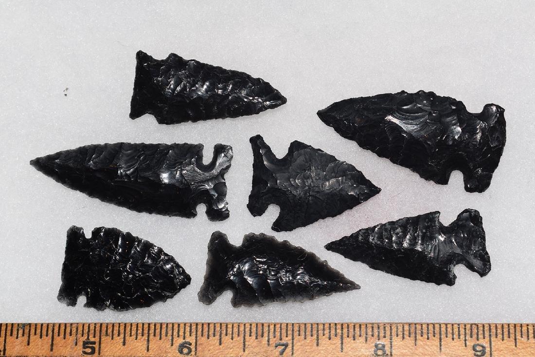 7 California Gem Obsidian Points, Ex Dr Green
