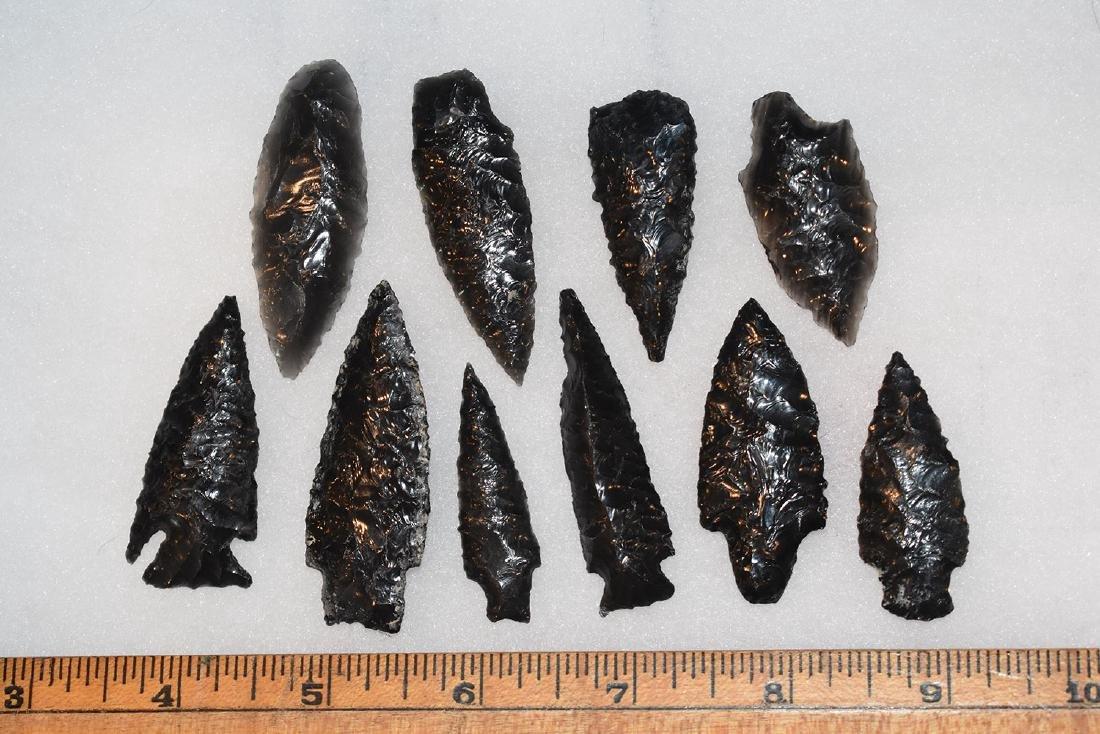 10 California Gem Obsidian Points, Ex Dr Green
