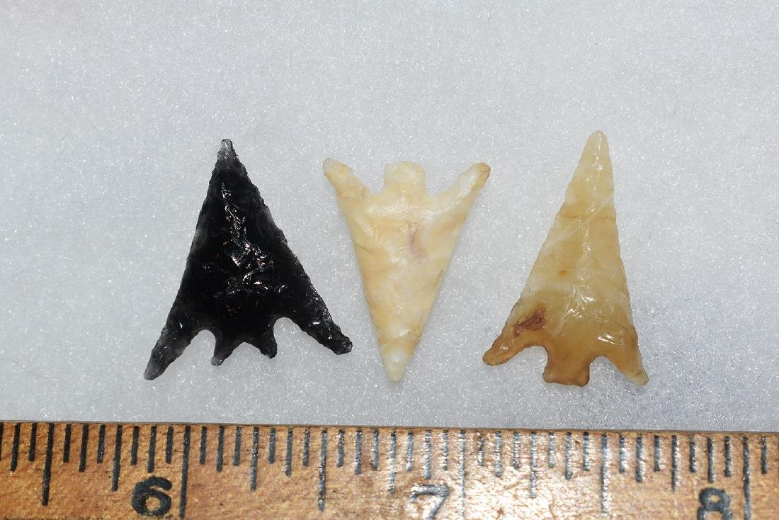 3 Western Gem Grade Bird Points, Some Columbia River,