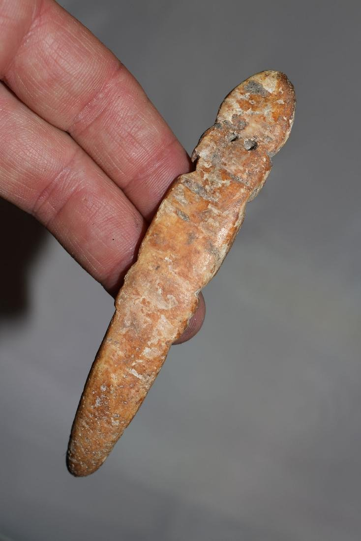 "4.3/8"" Southwest Bone Effigy Snake"
