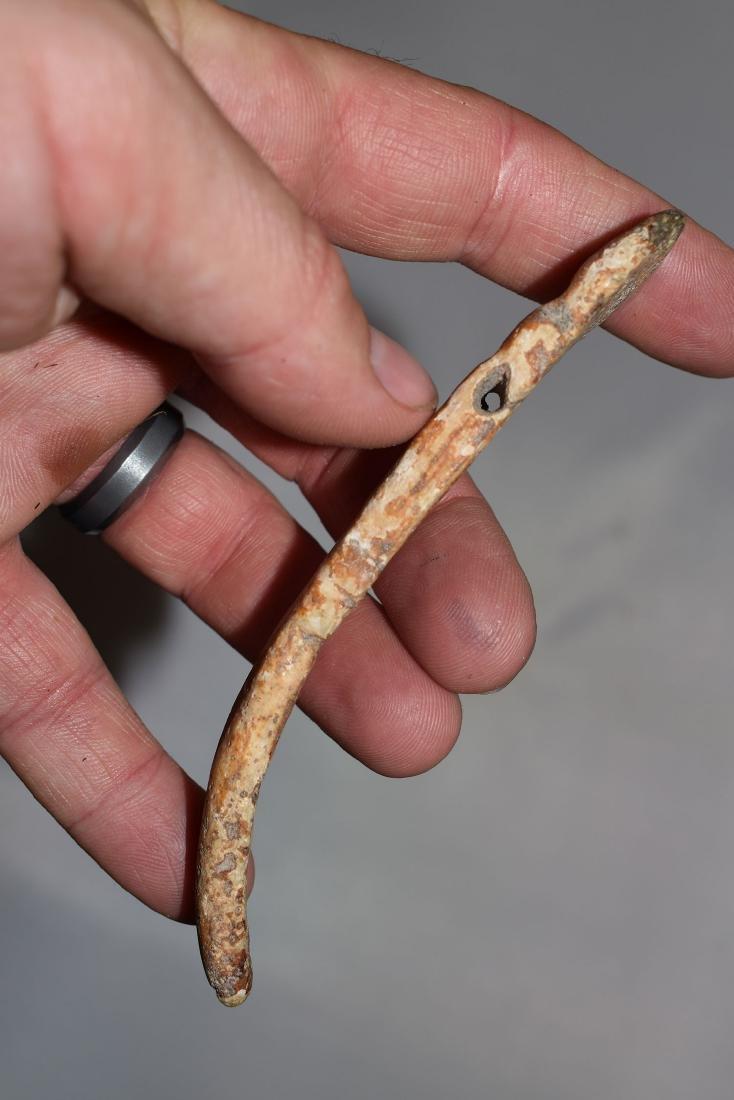 "4.3/8"" Southwest Bone Effigy Snake - 2"