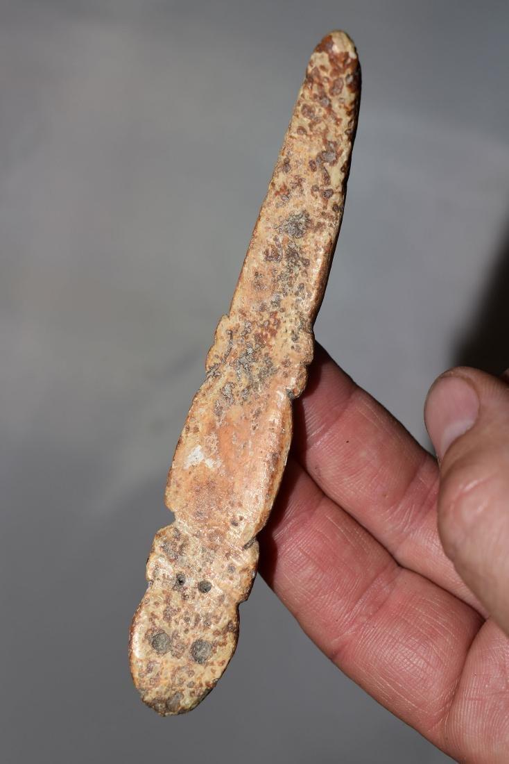 "4.3/8"" Southwest Bone Effigy Snake - 3"