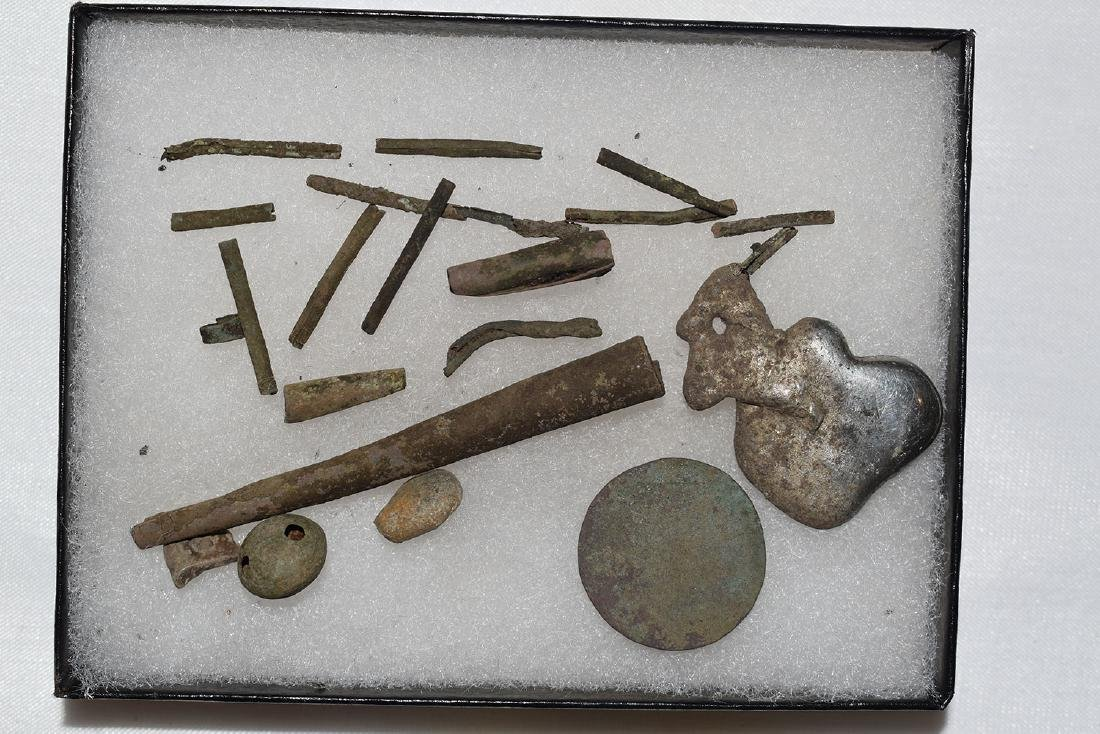 Nice lot of Copper and Silver Historic Relics, Tinklers