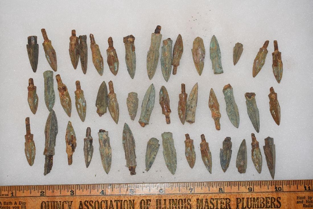 lot of 44 Bronze Age Roman Arrowheads