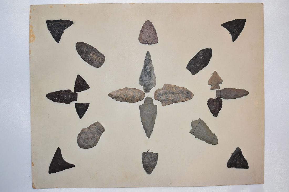 Bank Window lot of New England Arrowheads