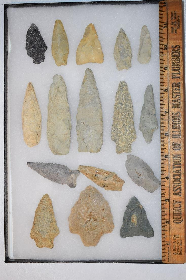 Lot of 16 Arrowheads from Granville County North