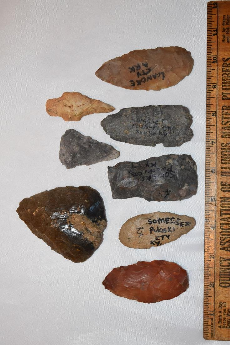 Lot of Arrowheads, from Continental USA