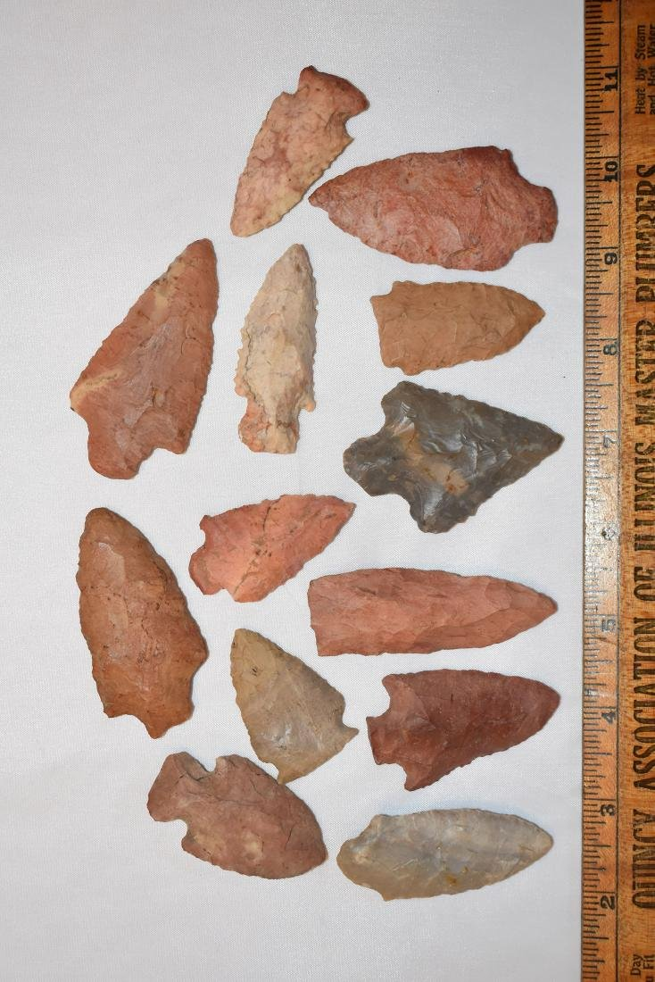 Lot of Arrowheads, from Northeast Alabama