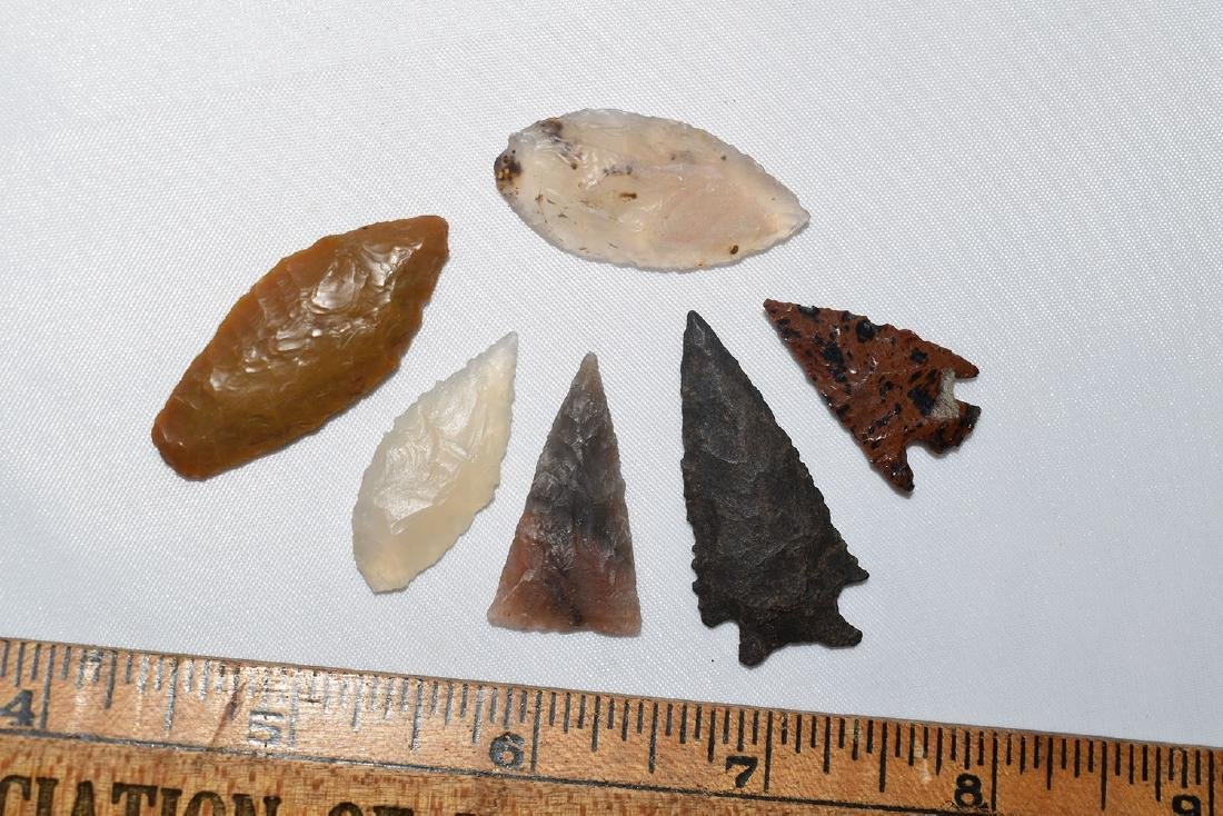 Lot of 6 better grade NW USA points, one paleo.