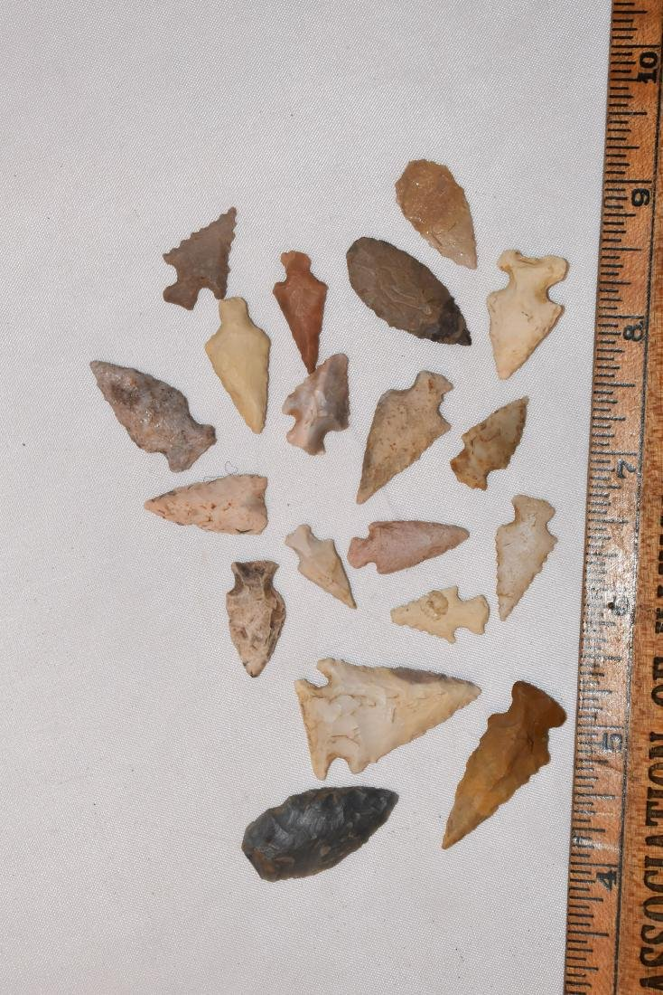 Lot of North East Arkansas Birdpoint Arrowheads