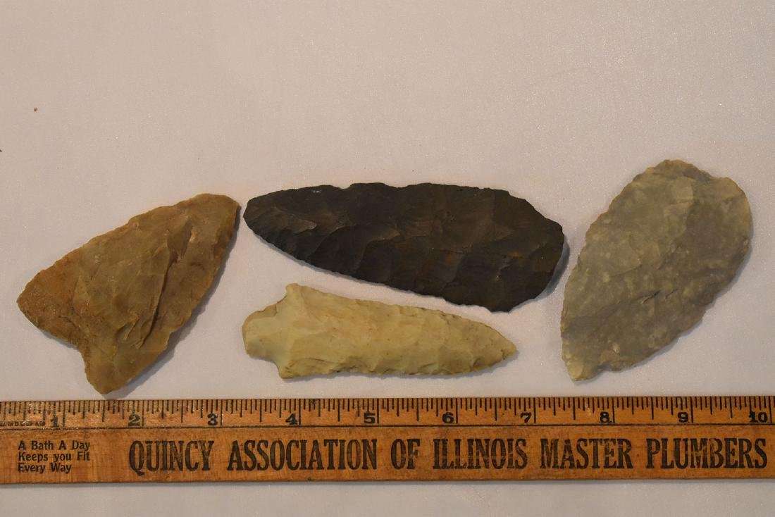 4 larger Midwest Arrowheads
