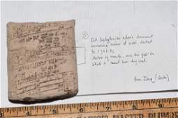 Ancient Cuneiform Clay Tablet Babylonian South Iraq