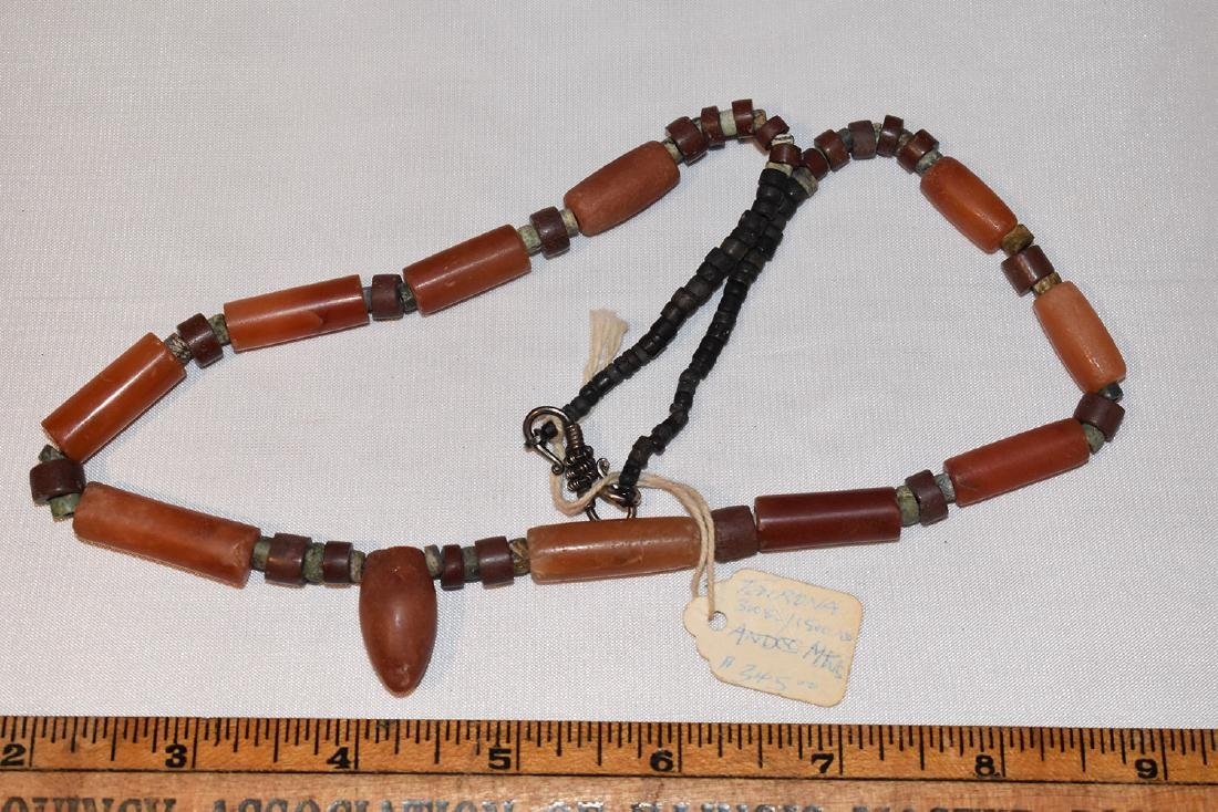 Early Prehistoric Bead Necklace, Quartz, Tairona, Andes