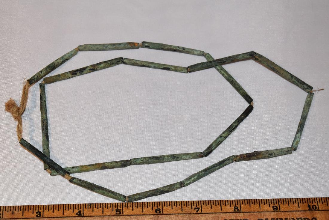 Early Prehistoric Bead Necklace, Copper,  Pre-Columbia