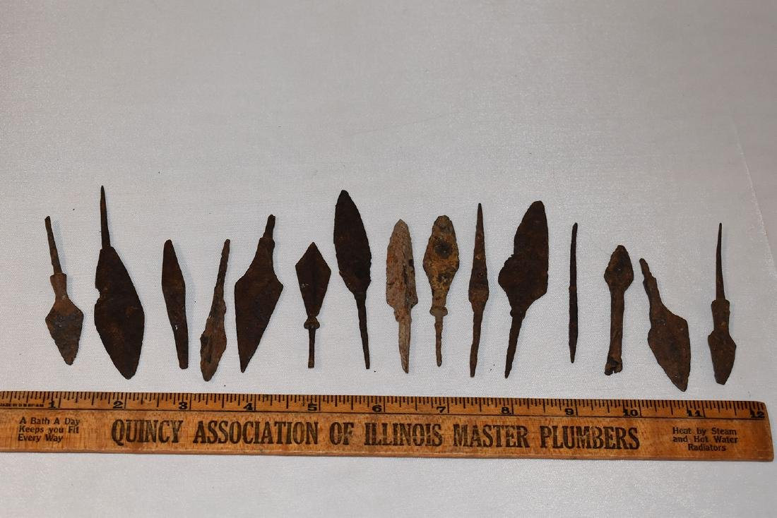 Iron Arrowheads, Roman, Rat Tail