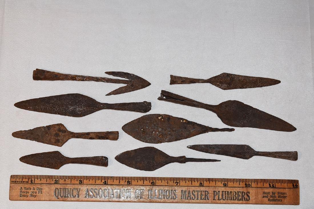 Iron Arrowheads, Roman, better examples