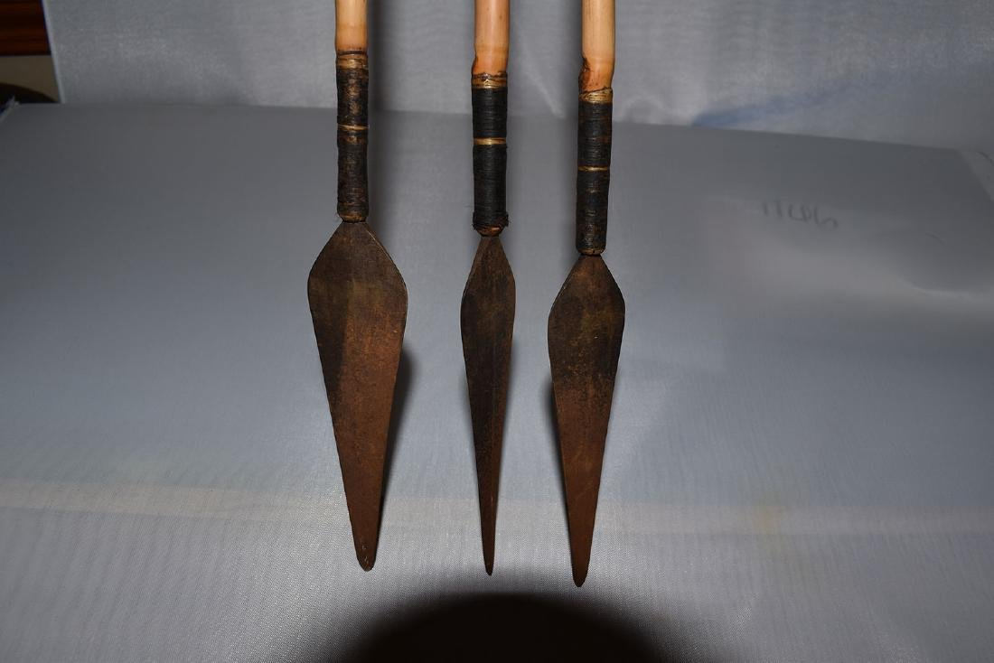 Lot of 3 historic Arrows, Africa, 42 inches long - 2