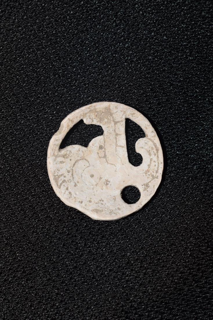 Mesopotamia Shell Gorget, Well Made, Effigy engraved,