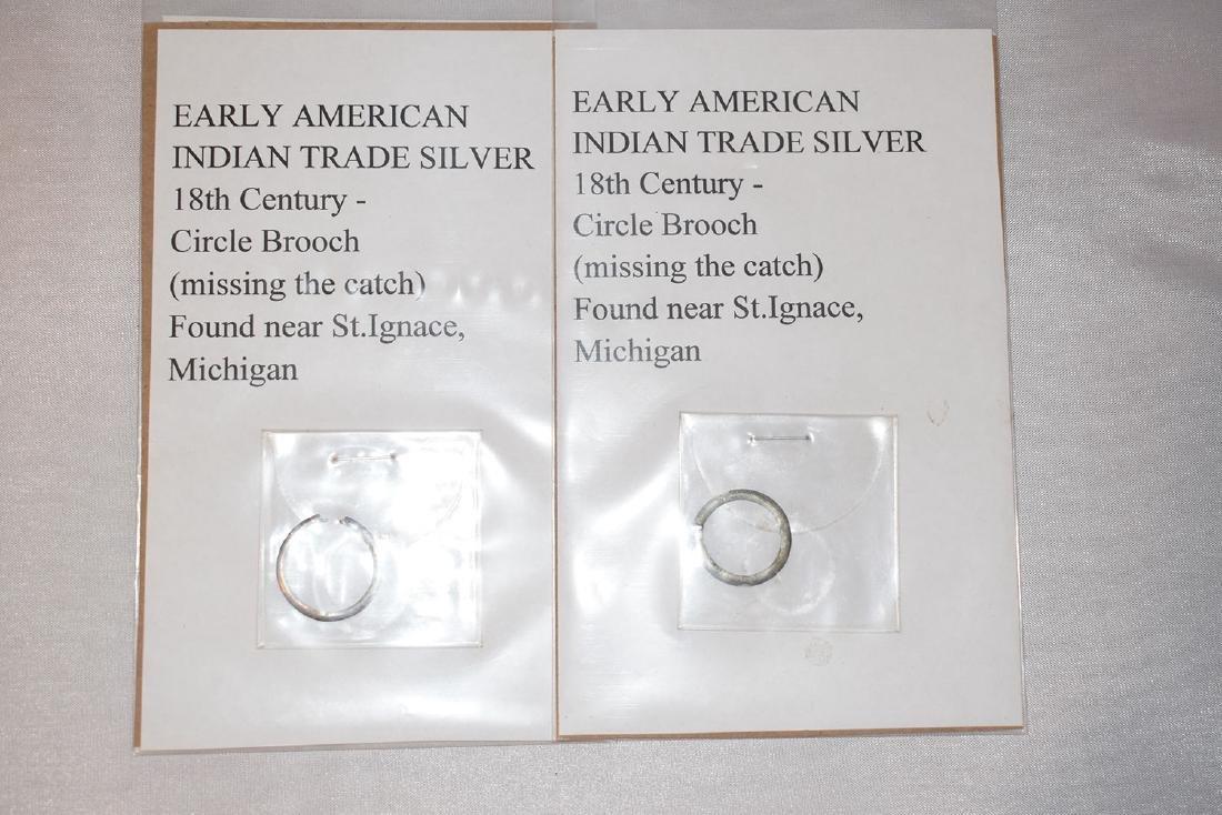 2 Trade Silver Broaches, Michigan